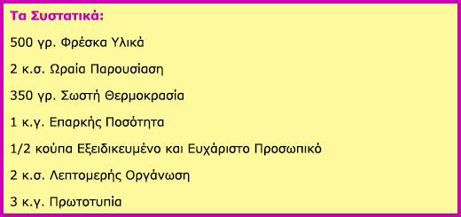 ΣΥΝΤΑΓΕΣ & ΣΥΜΒΟΥΛΕΣ ΜΑΓΕΙΡΙΚΗΣ