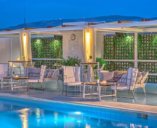 Panorama Restaurant & Pool Bar του Athens Ledra Hotel