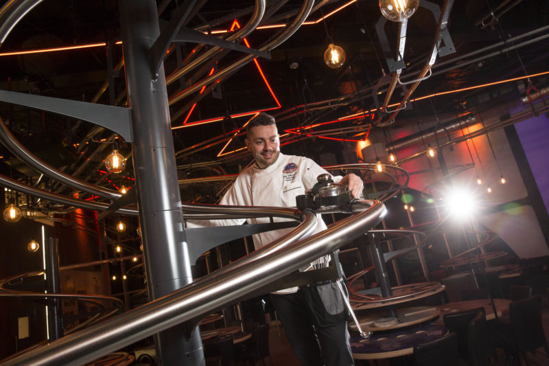 EDITORIAL USE ONLY Dan Willbraham, Executive Head Chef at the Rollercoaster Restaurant at Alton Towers Resort. PRESS ASSOCIATION Photo. Picture date: Thursday April 28, 2016. Photo credit should read: Fabio De Paola/PA Wire