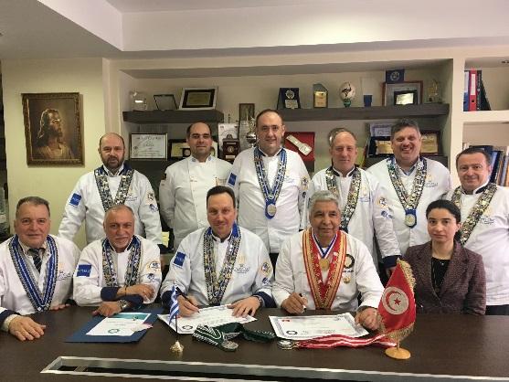 Αδελφοποίηση Λέσχης Αρχιμαγείρων Ελλάδος με Λέσχη Αρχιμαγείρων Τυνησίας