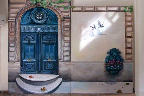 Τοιχογραφία, Γκράφιτι ή Tαπετσαρία;
