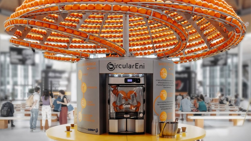 Feel The Peel: πειραματικός αποχυμωτής που ανακυκλώνει τις φλούδες πορτοκαλιού